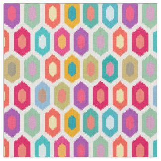カラフルな虹のモダンなIkatパターン ファブリック