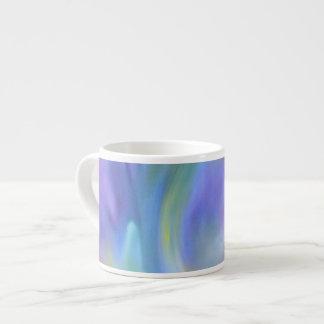 カラフルな虹の抽象美術のエスプレッソのマグ エスプレッソカップ