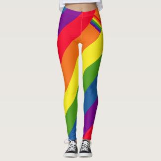カラフルな虹の旗ゲイプライド レギンス