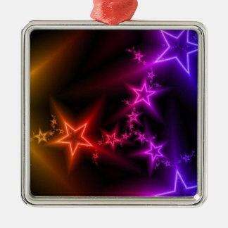 カラフルな虹の星 メタルオーナメント