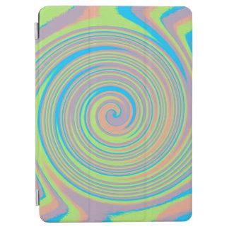 カラフルな虹の渦巻パターン iPad AIR カバー