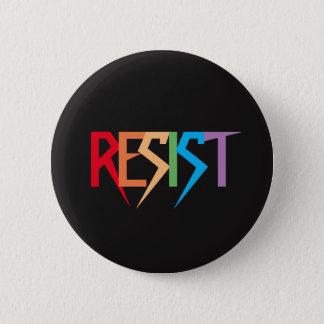 カラフルな虹はボタンに抵抗します 缶バッジ