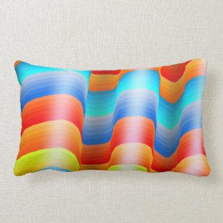カラフルな虹Sarape ランバークッション