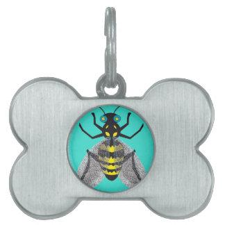 カラフルな蜂の芸術のペットID ペットネームタグ