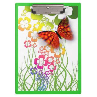 カラフルな蝶デザインのクリップボード クリップボード