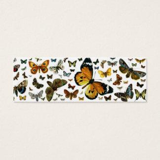 カラフルな蝶古書売買のイメージのしおり スキニー名刺