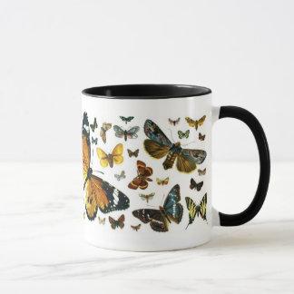 カラフルな蝶古書売買のイメージのしおり マグカップ