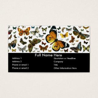 カラフルな蝶古書売買のイメージのしおり 名刺