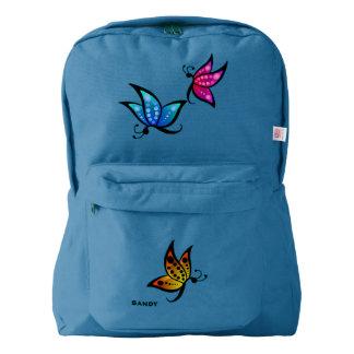 カラフルな蝶習慣のバックパック AMERICAN APPAREL™バックパック