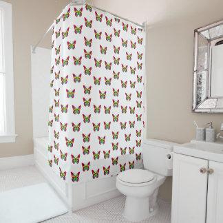 カラフルな蝶 シャワーカーテン