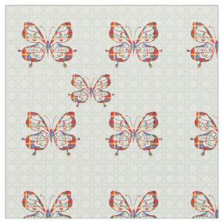 カラフルな蝶 ファブリック