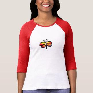 カラフルな蝶 Tシャツ