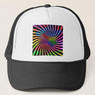 カラフルな螺線形のデザイン: キャップ