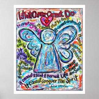 カラフルな蟹座の天使の芸術ポスタープリントの白の端 ポスター