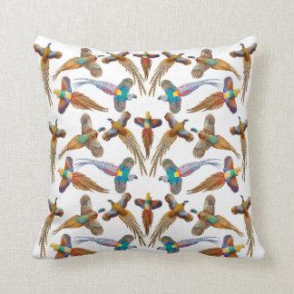 カラフルな装飾用のキジの枕 クッション