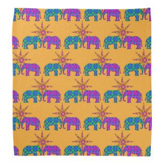 カラフルな象のバンダナ バンダナ