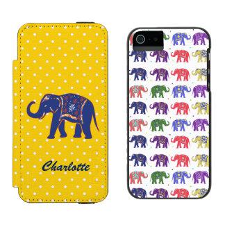 カラフルな象のiPhone 5Sのウォレットケース Incipio Watson™ iPhone 5 ウォレット ケース
