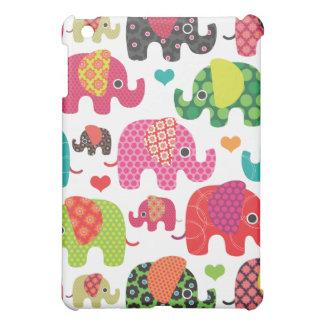カラフルな象はパターンipadの場合をからかいます iPad miniケース
