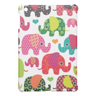 カラフルな象はパターンipadの小型場合をからかいます iPad miniケース