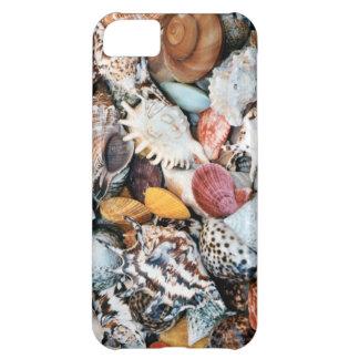 カラフルな貝およびムラサキ貝 iPhone5Cケース