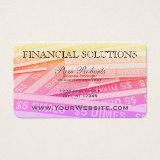 カラフルな財政のお金の解決 名刺