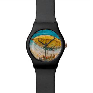 カラフルな軟式小型飛行船の絵画 腕時計