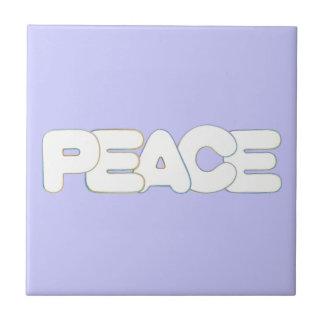 カラフルな輪郭の平和単語のタイルTrivet タイル