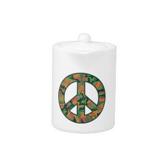 カラフルな迷彩柄の平和