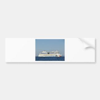 カラフルな遊航船 バンパーステッカー
