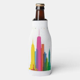 カラフルな都市 ボトルクーラー