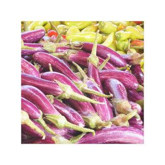 カラフルな野菜のキャンバスのプリント、12x12 キャンバスプリント