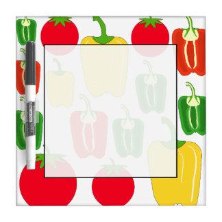 カラフルな野菜 ホワイトボード