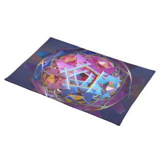 カラフルな金属球体 ランチョンマット