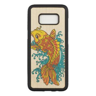 カラフルな金魚のコイ CARVED SAMSUNG GALAXY S8 ケース