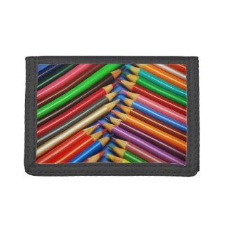 カラフルな鉛筆のクレヨンの札入れ