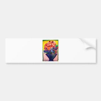カラフルな開花のデザイン バンパーステッカー