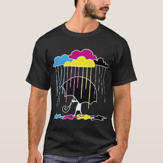 カラフルな雨 Tシャツ