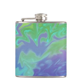 カラフルな青緑のしぶきの抽象芸術 フラスク