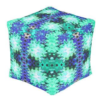 カラフルな青緑の抽象芸術 プーフ
