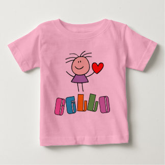 カラフルな音楽チェロのベビーのTシャツ ベビーTシャツ