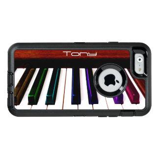 カラフルな音楽ピアノはOtterboxのiPhoneの場合を調整します オッターボックスディフェンダーiPhoneケース