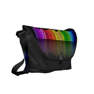 カラフルな音楽平衡装置w/Reflectionのクールなテクノ メッセンジャーバッグ