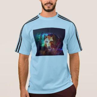カラフルな顔のオオカミ Tシャツ