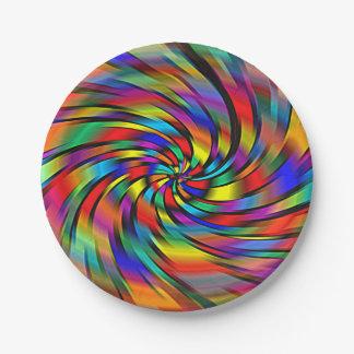 カラフルな風車の紙皿 ペーパープレート