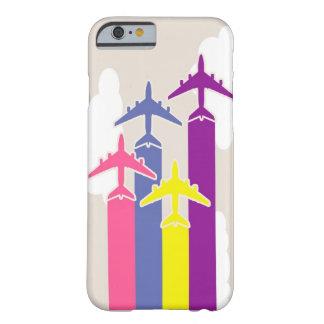 カラフルな飛行機 iPhone 6 ベアリーゼアケース