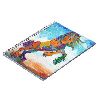 カラフルな馬のノート ノートブック
