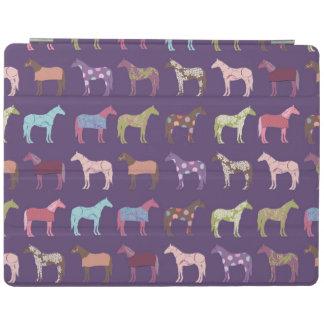カラフルな馬パターン iPadスマートカバー