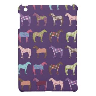 カラフルな馬パターン iPad MINIケース