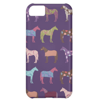 カラフルな馬パターン iPhone5Cケース