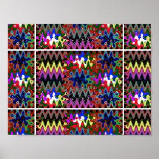 カラフルな魔法の明示のグラフィックの波のsparkl ポスター